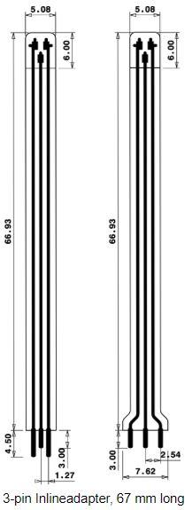 3 poliger Inline adapter