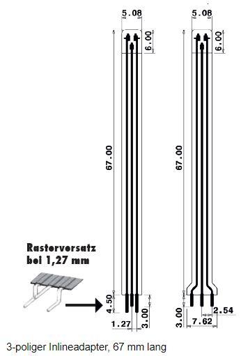 3 poliger Inlineadapter