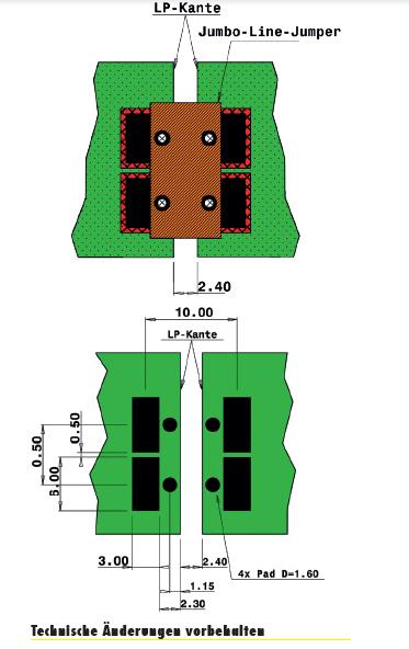 Jumbo Line Jumper Designhinweise