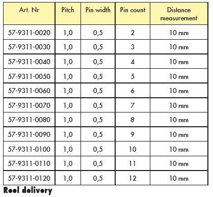 Line Jumper Distance 10mm Table