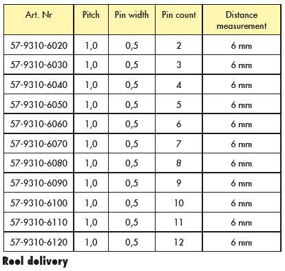 Line Jumper Distance 6mm Table