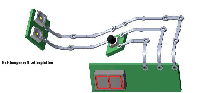 Net-Jumper mit Leiterplatten