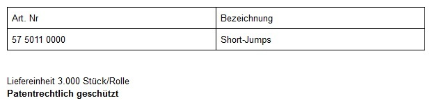 Short Jumps Artikel