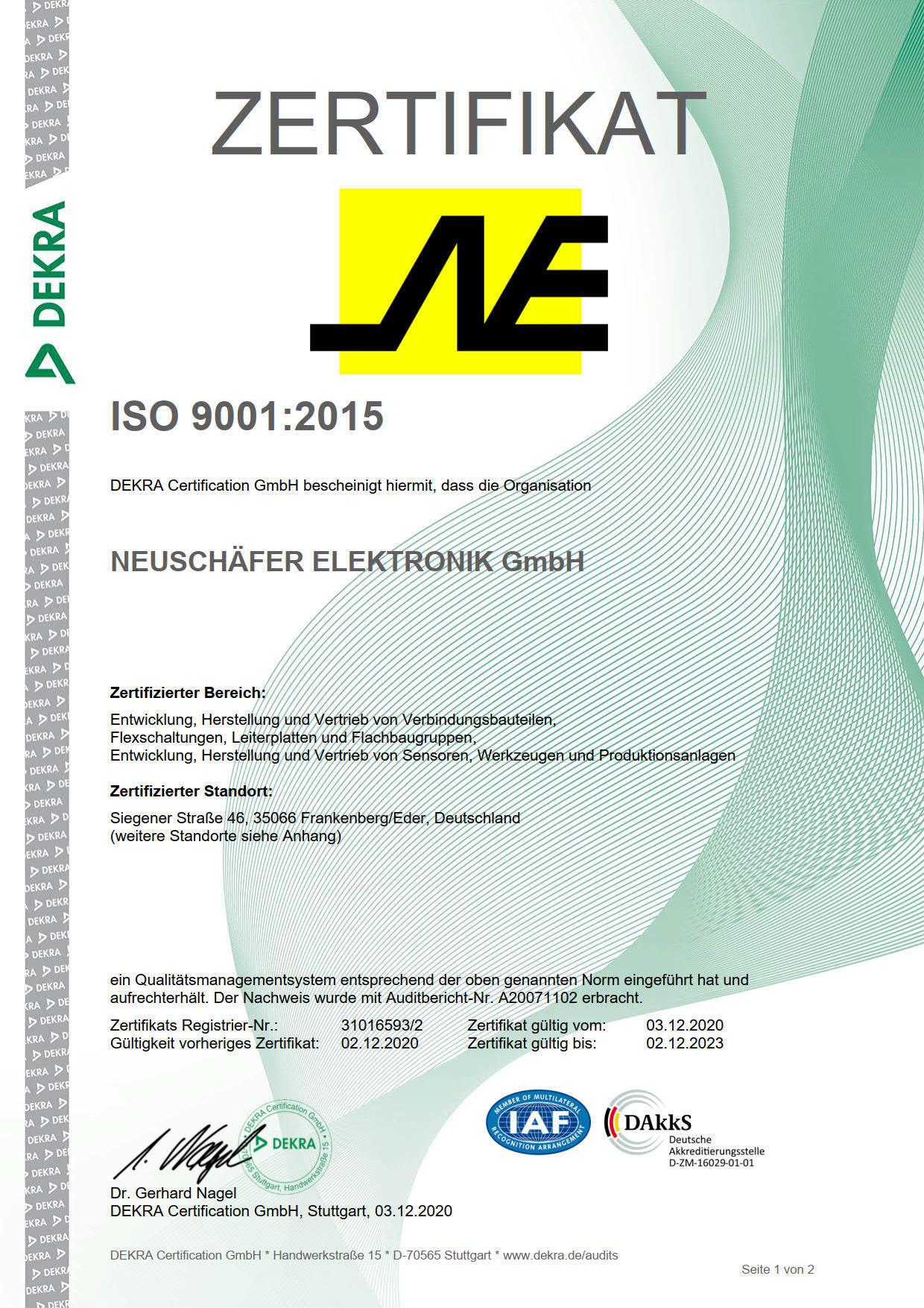 Zertifikat RZ 9001_2015_1