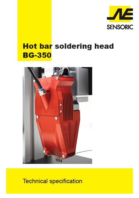 Hot Bar Soldering Head BG 350